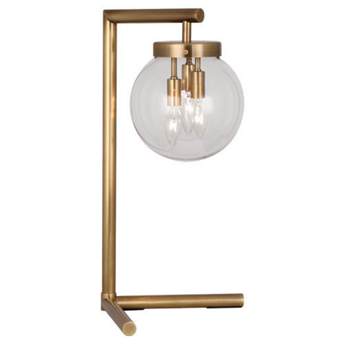 Mill & Mason Jude Antique Brass Three-Light Table Lamp