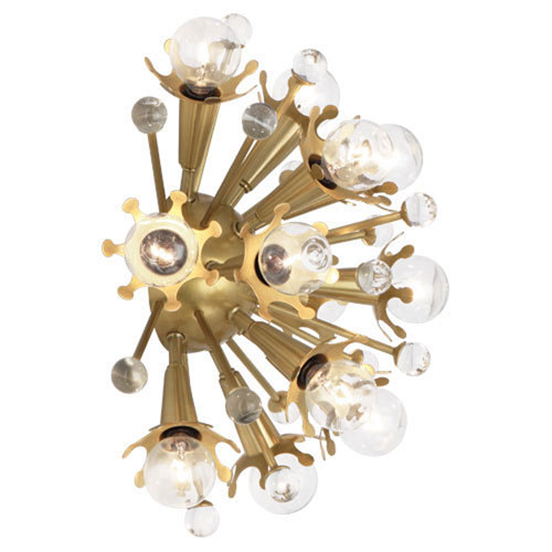 Mill & Mason Celestial Antique Brass Twelve-Light Sconce