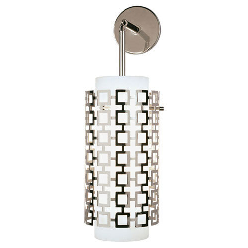 Mill & Mason Prescott Polished Nickel One-Light Sconce