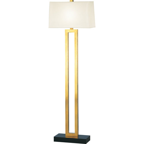 Adams Polished Brass One-Light Floor Lamp