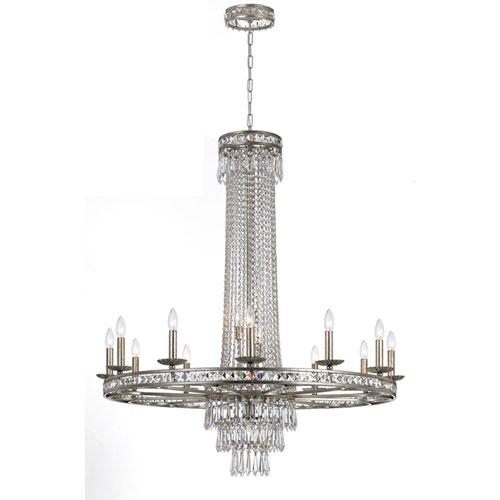 Mill & Mason Inverness Silver Sixteen-Light Crystal Chandelier