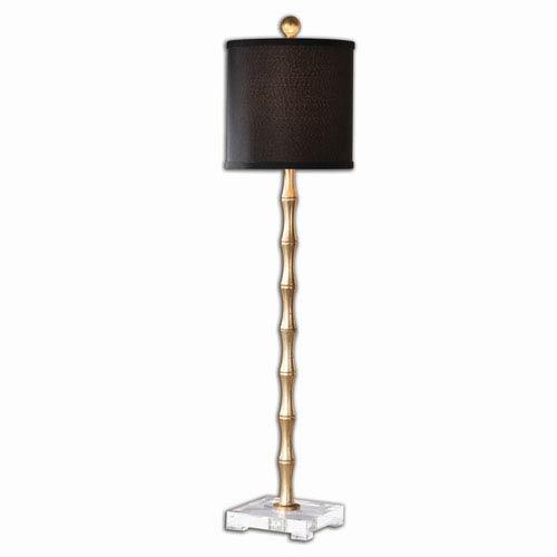Mill Mason Braxton Metal Bamboo Buffet Lamp With Black Shade