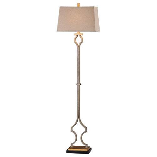 Brooks Gold Leaf Floor Lamp