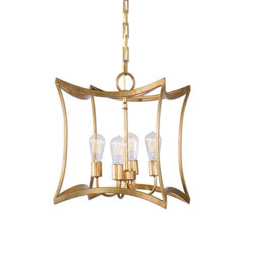 Mill & Mason Monroe Gold Four-Light Lantern Pendant