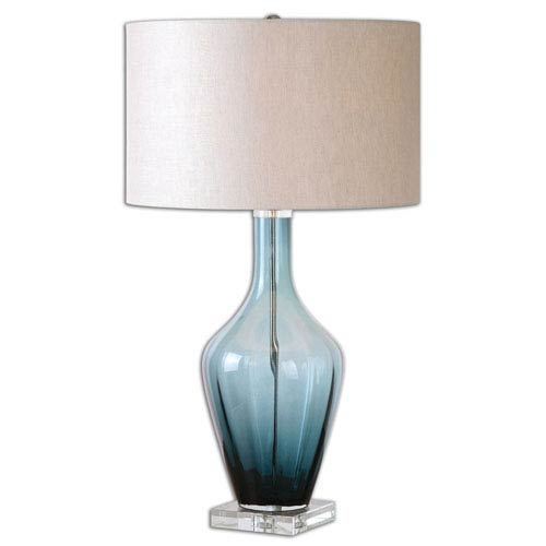 Aura Blue Glass Table Lamp