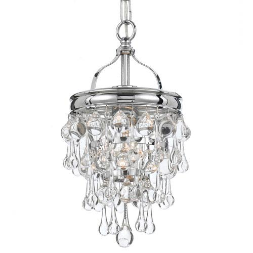 Hopewell Polished Chrome One-Light Mini-Pendant with Clear Crystal