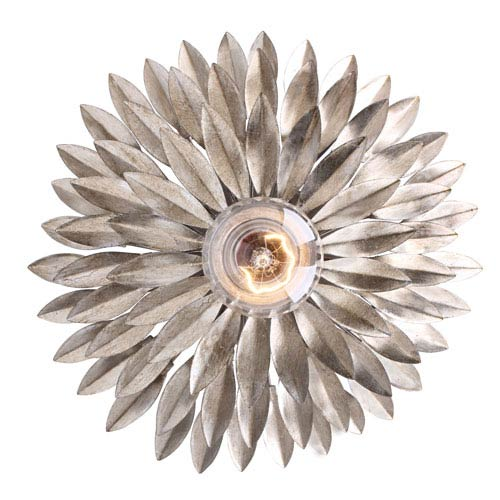 Rosemary Antique Silver One-Light Wall Sconce