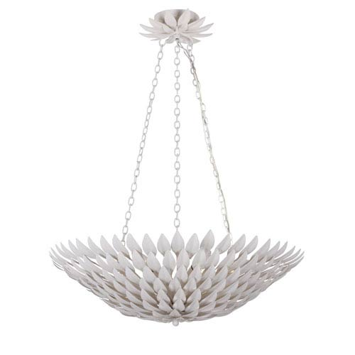 Rosemary White Six-Light Chandelier