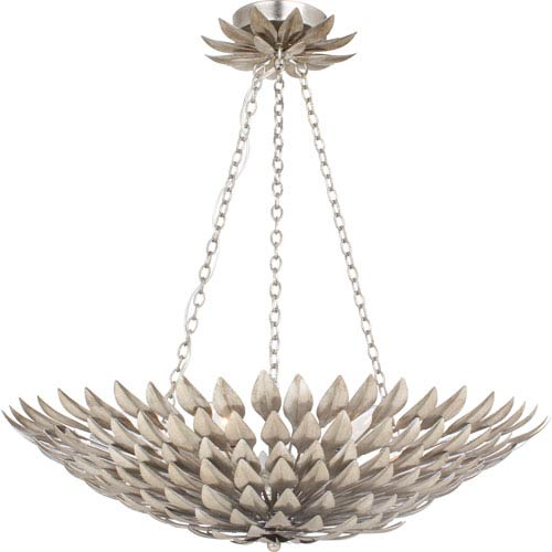 Rosemary Antique Silver Six-Light Chandelier