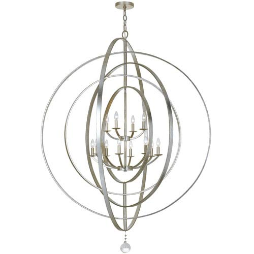 Raglan Antique Silver 12-Light Chandelier