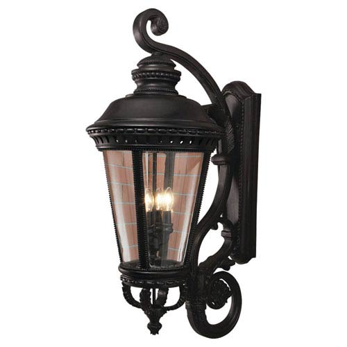 Augustus Black 15-Inch Four-Light Outdoor Wall Mount