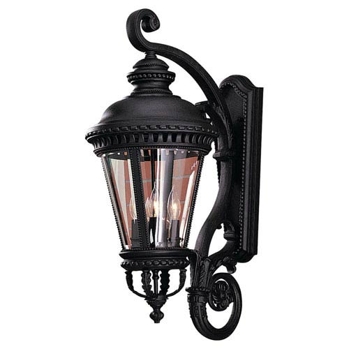 Mill & Mason Augustus Black 12-Inch Four-Light Outdoor Wall Mount