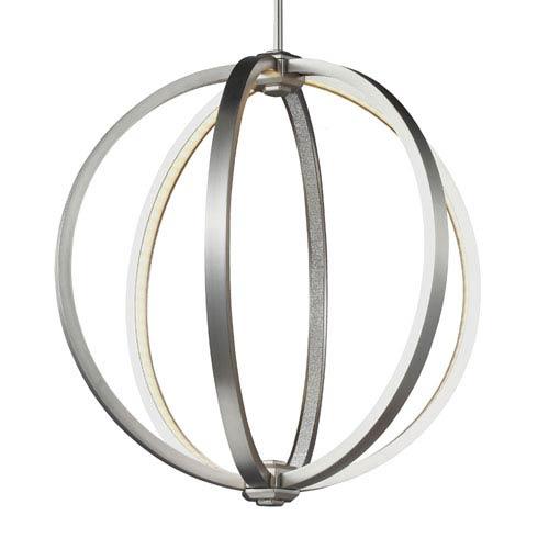 Luminarian Satin Nickel 20-Inch LED Globe Pendant
