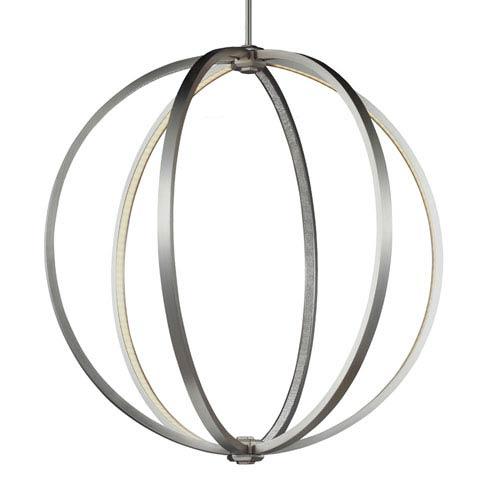 Mill & Mason Luminarian Satin Nickel 30-Inch LED Globe Pendant