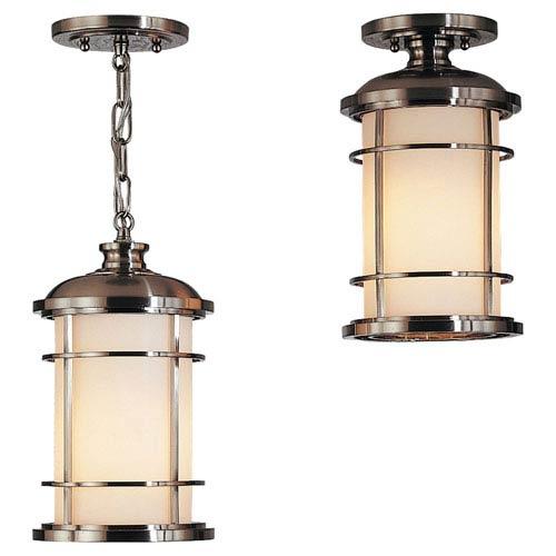 Mill & Mason Rhett Brushed Steel LED Outdoor Pendant