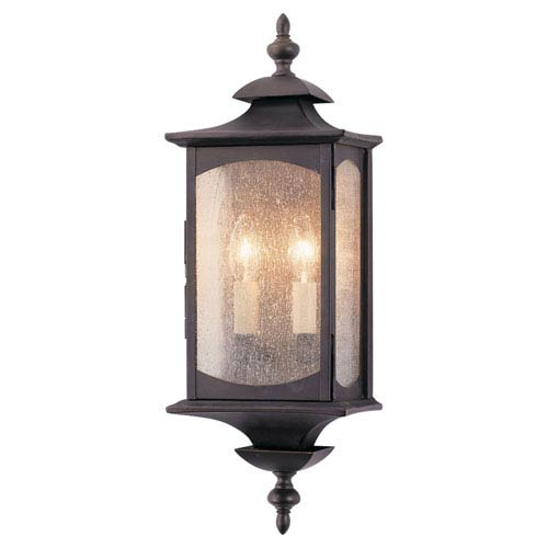Kalher Rubbed Bronze Two-Light Outdoor Wall Mount