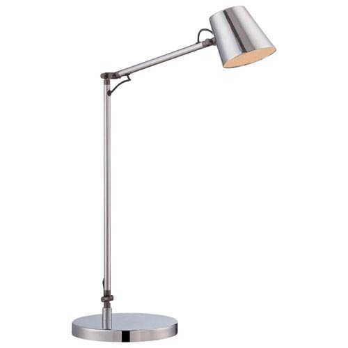 Rocco Chrome Seven-Inch LED Desk Lamp