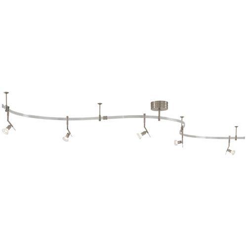 Mill & Mason Nile Brushed Nickel Five-Light Monorail Track Light