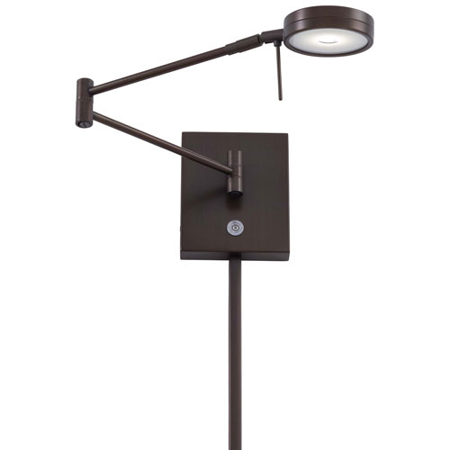 Apothecary Copper Bronze LED Swing Arm Wall Lamp