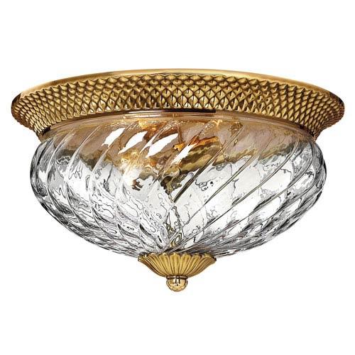 Fleur Brass Three-Light Flush Mount