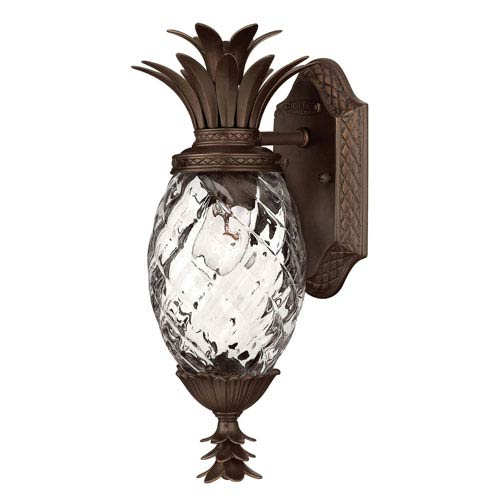 Fleur Copper Bronze Six-Inch One-Light Outdoor Wall Mount with Clear Glass
