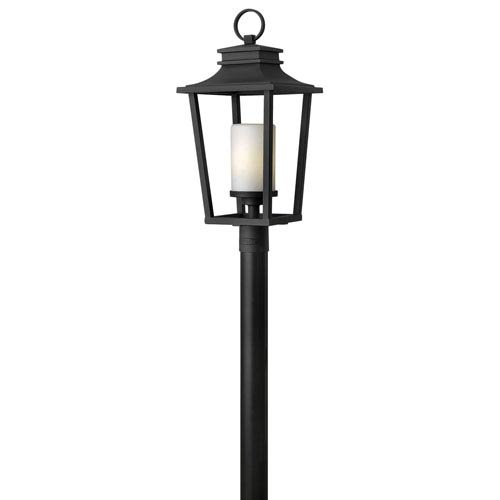 Glenview Black One-Light Outdoor Post Mount