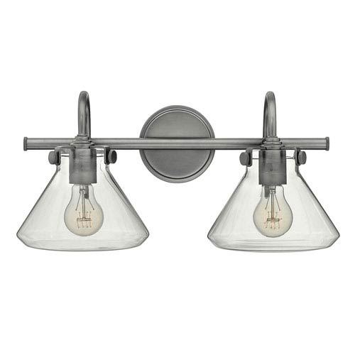 Irving Antique Nickel Two-Light Vanity