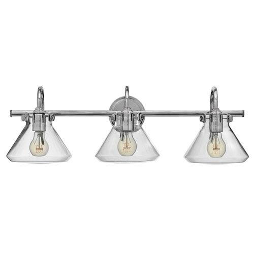 Irving Chrome Three-Light Vanity