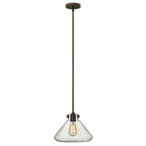 Irving Rubbed Bronze 12-Inch One-Light Pendant