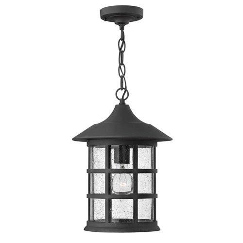 Hilldate Black One-Light Outdoor Pendant