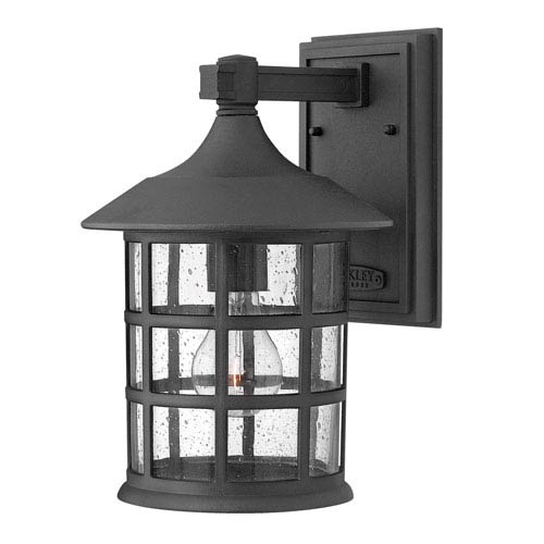 Hillgate Black Eight-Inch One-Light Outdoor Wall Mount