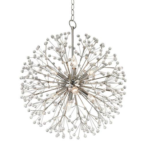 Broome Polished Nickel Eight-Light Chandelier