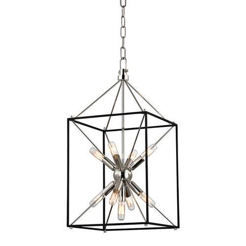 Mill & Mason Zander Polished Nickel 12-Inch Nine-Light Sputnik Lantern Pendant