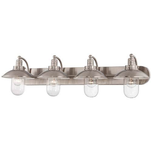 Carlton Brushed Nickel Four-Light Vanity