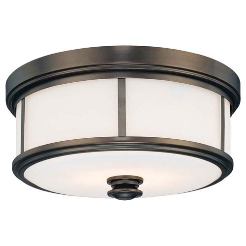 Bridgewater Bronze Two-Light Drum Flush Mount