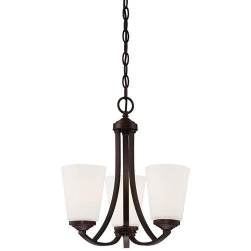 Everly Bronze Three-Light Chandelier