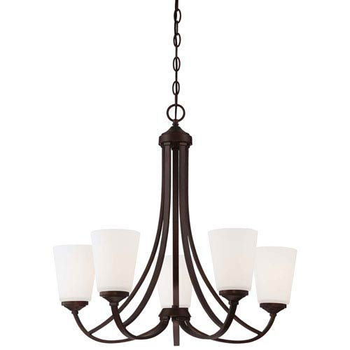 Everly Bronze Five-Light Chandelier