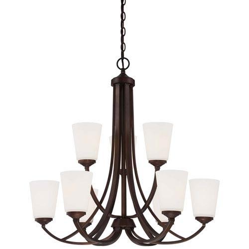Mill & Mason Everly Bronze Nine-Light Chandelier