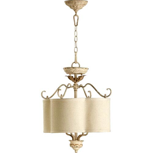 Bouverie French White Four-Light Drum Pendant