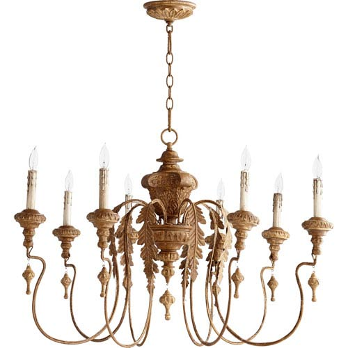 Mill & Mason Bouverie Soft Umber 24-Inch Eight-Light Chandelier
