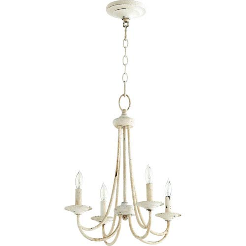 Eastminster French White Four-Light Chandelier
