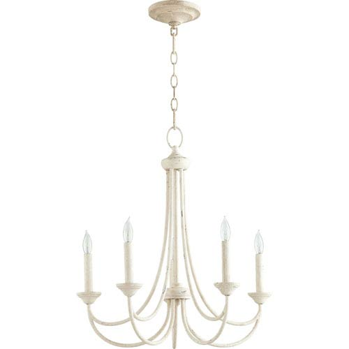 Eastminster French White Five-Light Chandelier