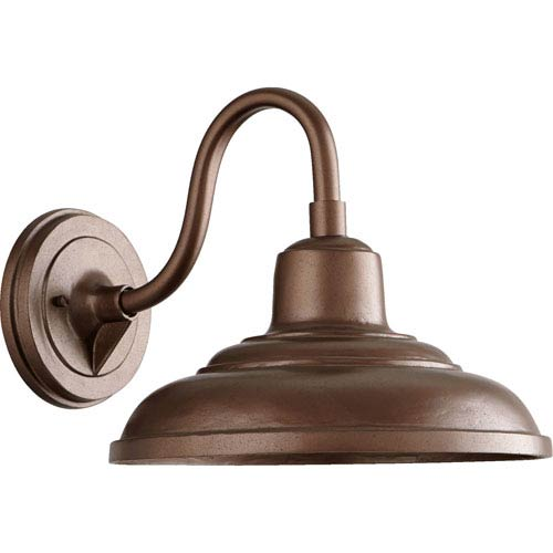 Kentfield Rubbed Bronze 16-Inch One-Light Outdoor Gooseneck Wall Mount