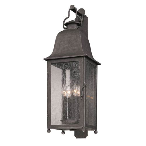 Jefferson Aged Pewter Four-Light Outdoor Wall Mount