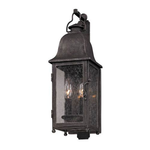 Jefferson Aged Pewter Two-Light Outdoor Wall Mount