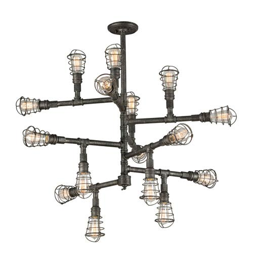 Jax Aged Pewter 16-Light Chandelier