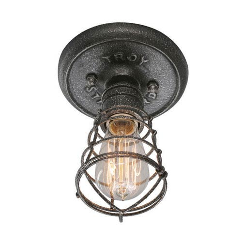 Jax Aged Pewter One-Light Flush Mount