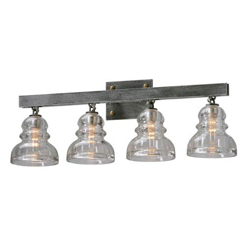 Sullivan Aged Pewter Four-Light Vanity