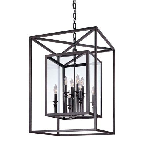 Warwick Dark Bronze Eight-Light Lantern Pendant
