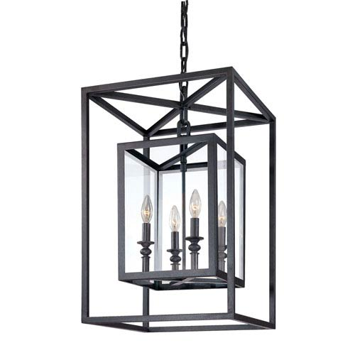 Mill & Mason Warwick Dark Bronze Four-Light Lantern Pendant